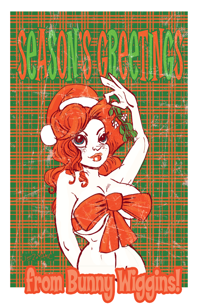 Season's Greetings from Bunny Wiggins!