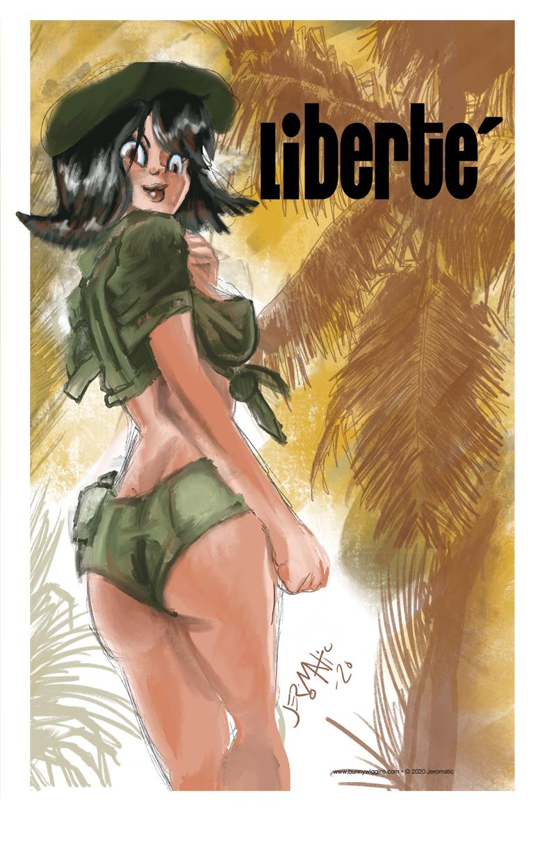 Liberté pin-up!